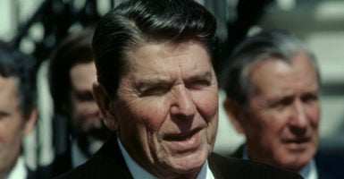 Under President Ronald Reagan, the United States initiated a multipronged anti-communist strategy that was part military, part economic, and part political. (Photo: Mark Reinstein/Zuma Press/Newscom)