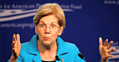 Sen.  Elizabeth Warren, D-Mass., here at the Center for American Progress on July 13, 2016, wants the U.S. Postal Service to give you payday loans as well as mail. (Photo: Gary Cameron /Reuters/Newscom)