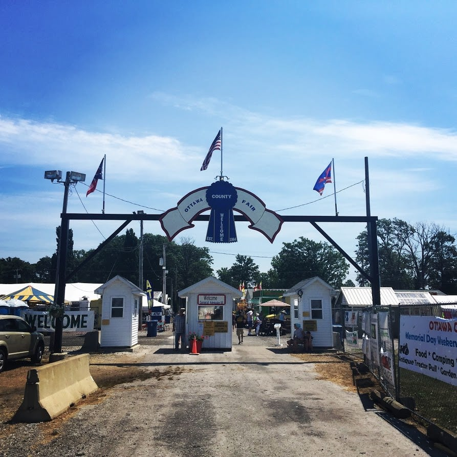 The entrance to the Ottawa County Fair in Oak Harbor, Ohio. (Photo: Melissa Quinn/The Daily Signal)