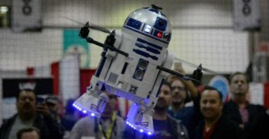 FAA rules threaten Star Wars drone pilots with fines and potential prison time. (Photo: Gene Blevins/Polaris/Newscom)