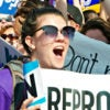 Pro-choice activists react to the Supreme Court's 5-3 ruling June 27, 2016, against a Texas law requiring health and safety standards at abortion clinics. (Photo: Patsy Lynch/Polaris/Newscom)