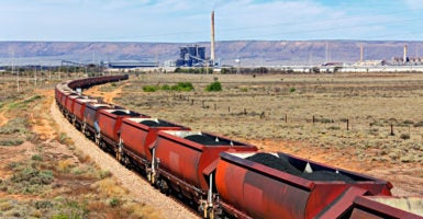A trainload of coal arrives at a power station. EPA regulations to counter climate change will increase household spending on electricity between 13 and 20 percent over the next 20 years, a Heritage Foundation report says. (Photo: iStock Photos)