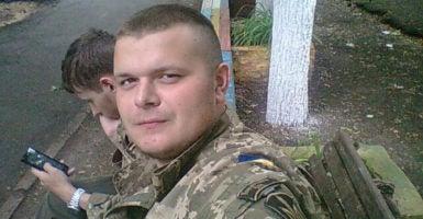 Daniel Kasyanenko, 19, died in a mortar attack in eastern Ukraine. (Photo: Nolan Peterson/The Daily Signal)