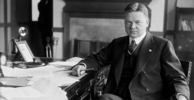 Herbert Hoover as head of the Food Administration during World War 1. As U.S. president, Hoover was asked in a letter by 1,028 economists to veto the Smoot-Hawley tariff in 1930. (Photo: Everett Collection/Newscom)