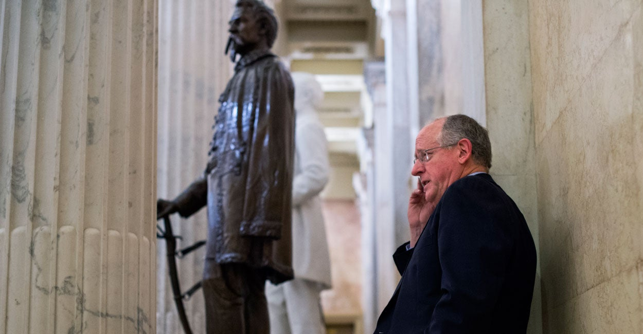 In a bipartisan gesture unique to Congress, Agriculture Chairman Mike Conaway says he's looking forward to working closely with his Democrat counterpart to draft the 2018 farm bill. (Photo: Tom Williams/CQ Roll Call/Newscom)