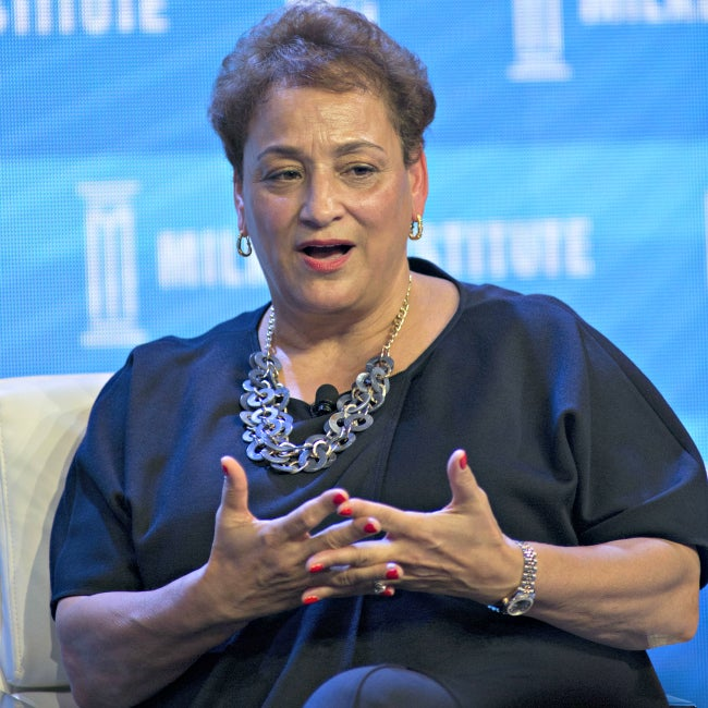 Jo Ann Jenkins, CEO of AARP, speaks May 2, 2016, during the Milken Institute Global Conference at the Beverly Hilton Hotel in Beverly Hills, California. (Photo: Javier Rojas/ZumaPress/Newscom)