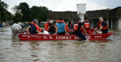 The U.S. Coast Guard rescues locals from flood water Sunday in Baton Rouge, Louisiana. (Photo: Brandon Giles/Coast Guard/UPI/Newscom)