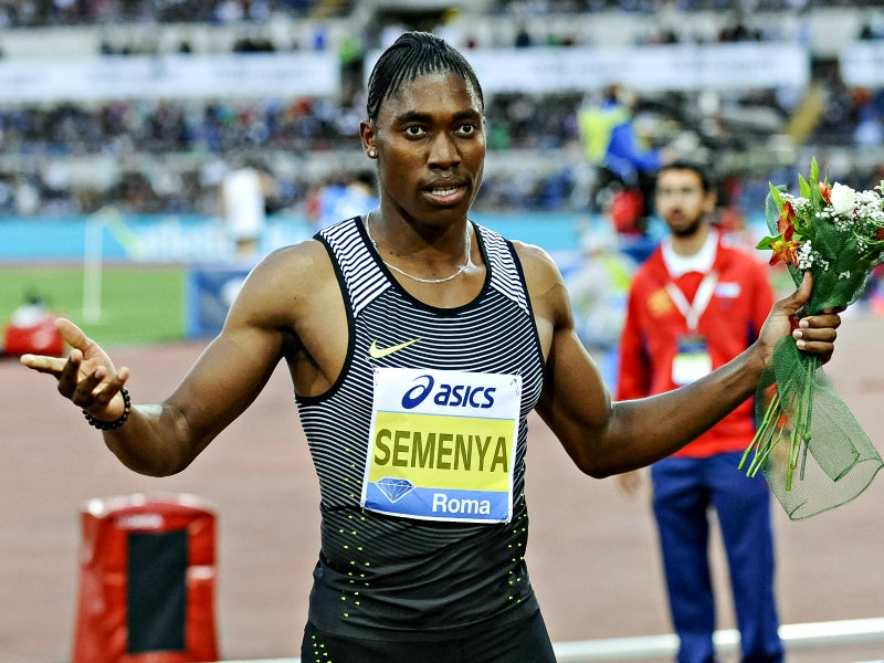 Caster Semenya wins the women's 800-meter event June 2, 2016, during the IAAF Diamond League Golden Gala Pietro Mennea at Stadio Olimpic in Rome. (Photo: Giuseppe Maffia/ZumaPress/Newscom)