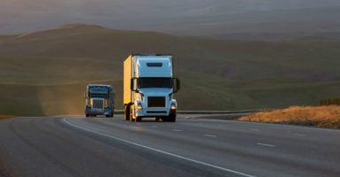 The government thinks it knows better and has better business and investment acumen than those actually in the trucking industry. (Photo: Jetta Productions Blend Images/Newscom)