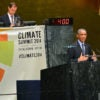 President Barack Obama speaks to a United Nations gathering on climate issues Sept. 23, 2014. (Photo: State Department/Zuma Press/Newscom)