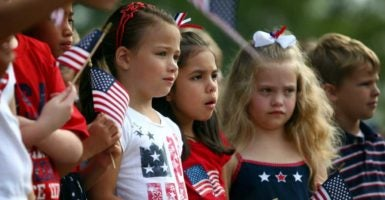 A Florida elementary school sent students home with a waiver from reciting the Pledge of Allegiance.  (Photo: Nikki Boertman/Zuma Press/Newscom)