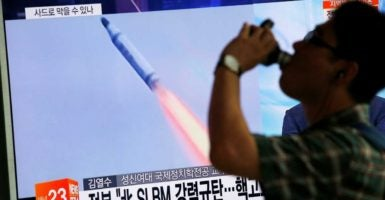 North Korea conducted a successful test launch of a submarine-launched ballistic missile on Tuesday.  (Photo: Kim Hong-Ji/Reuters/Newscom)