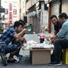 These men pictured Aug. 20, 2016, are among about 300,000 Syrian refugees  living in Istanbul, Turkey. One study found it costs 12 times more to resettle refugees here rather than their home region. (Photo: Raddad Jebarah/ZumaPress/Newscom)