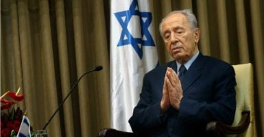 Shimon Peres, the former prime minister and president of Israel, passed away Wednesday morning.   (Photo: JINI Xinhua News Agency/Newscom)