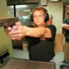 A member of the Second Amendment Sisters, a women's gun group, practices at a range in Charlotte, North Carolina. (Photo: Scott Houston/Polaris/Newscom)