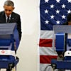President Barack Obama votes early at a polling station in Chicago, Illinois, on Oct. 20, 2014. Illinois is one of two states where hackers recently targeted voter data. (Photo: Kevin Lamarque /Reuters/Newscom)