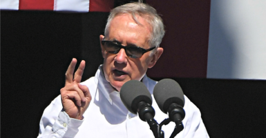Senate Minority Leader Harry Reid, D-Nev., speaks Aug. 31, 2016, at the 20th annual Lake Tahoe Summit in Stateline, Nevada. (Photo: Terry Schmitt /UPI/Newscom)