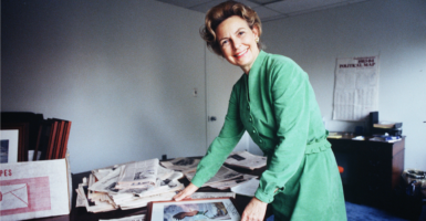 A 1983 photo of Phyllis Schlafly, whose leadership and mentorship affected many in the conservative movement. (Photo: The Washington Times /Zuma Press/Newscom)