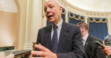 IRS Commissioner John Koskinen ruffles feathers among conservatives by visiting House Republicans while  lawmakers weigh whether to impeach him. (Photo: Michael Reynolds/EPA /Newscom)