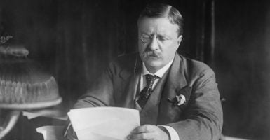 Theodore Roosevelt, here at his desk circa 1906,  turned out to be our first progressive president. (Photo: JT Vintage/Zuma Press /Newscom)