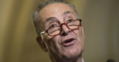 """A progressive majority on the Supreme Court is an imperative, and if I become majority leader, I will make it happen,"" Sen. Chuck Schumer, D-N.Y., says. (Photo: Kevin Dietsch/UPI/Newscom)"