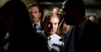 Freedom Caucus Chairman Jim Jordan, R-Ohio, reached a deal with Republican leadership late Wednesday night to stop an impeachment vote on IRS Commissioner John Koskinen. (Photo: Bill Clark/CQ Roll Call/Newscom)