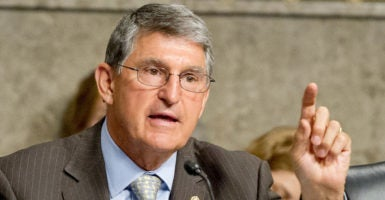 Sen. Joe Manchin should call the Miners Protection Act what it is: a taxpayer-financed bailout for one particular union-run pension plan. (Photo: Ron Sachs/CNP/ Polaris/Newscom)