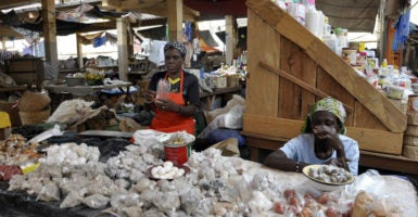 A local market in Benin, West Africa. (Photo: Hermes Images /Agf/Zuma Press /Newscom)