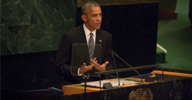 President Barack Obama has been most active in the U.N. when it offered an opportunity to advance his policies that lack broad support among the American public. (Photo: Albin Lohr-Jones/Pacific Press/Newscom)