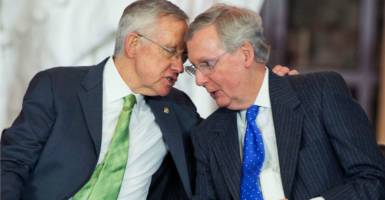 The Mitch McConnell-Harry Reid era has witnessed a Senate that is less transparent, where individual members are less aware of their rights, and where there is a growing centralization of power in the leader's office. (Photo: Tom Williams/CQ Roll Call/Newscom)
