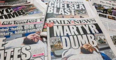 New York City newspapers front pages' over several days cover the arrest of Ahmad Khan Rahami and the bombings on Saturday in the New York and New Jersey area. (Photo: Richard B. Levine/Newscom)
