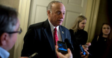 Rep. Steve King, R-Iowa, blasted the Senate's stopgap spending package as unconstitutional before he even saw it. (Photo: Tom Williams/CQ Roll Call /Newscom)
