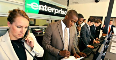 Enterprise Rent-A-Car's parent company has decided to speed away from ALEC, a network of state legislators and private sector leaders, after a monthlong campaign by labor, environmental, and other liberal groups. (Photo: David Carson/St. Louis Post-Dispatch/MCT /Newscom)