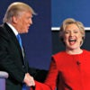Presidential candidates Donald Trump and Hillary Clinton, pictured here after their debate Sept. 26, 2016, at Hofstra University, have different approaches to the tax code. (Photo: Brian Snyder/Reuters/Newscom)