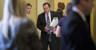"Republicans in the House and Senate, including Sens. Marco Rubio of Florida and Mike Lee of Utah, sent letters to the Obama administration raising concerns about a possible ""bailout"" of insurance companies. (Photo: Bill Clark/CQ Roll Call/Newscom)"