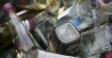 In some states, trading in out-of-state recyclable containers is a felony. (Photo: Philip Toscano/Zuma Press /Newscom)
