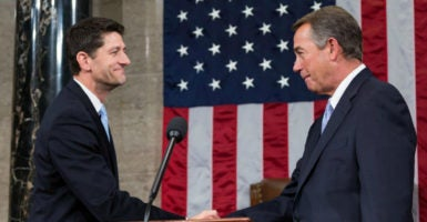 Before Rep. Paul Ryan, R-Wis., became House speaker, the Freedom Caucus forced out Rep. John Boehner, R-Ohio. A new rules change could save Ryan from even fearing that fate. (Photo: Caleb Smith/Zuma Press/Newscom)