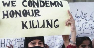 "On Oct. 6, 2016, Pakistan passed legislation to increase penalties for individuals guilty of committing ""honor killings."" (Photo: Stringer/EPA/Newscom)"