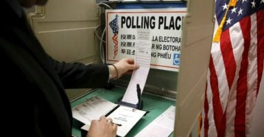 """The Heritage Foundation's """"Does Your Vote Count"""" project tracks voter fraud. (Photo: Lucy Nicholson/Reuters/Newscom)"""