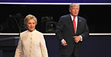 Hillary Clinton and Donald Trump didn't get into details at their final debate Oct. 19 in Las Vegas, but America will need presidential leadership to control spending and debt and return to a balanced budget. (Photo: Yin Bogu/Xinhua/Newscom)