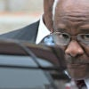 Supreme Court Justice Clarence Thomas gets into his vehicle Oct. 2 after attending the 64th annual Red Mass at the Cathedral of St. Matthew the Apostle in Washington. (Photo: Joshua Roberts/Reuters/Newscom)