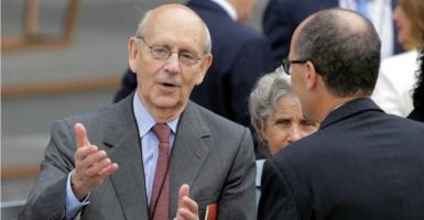 "Justice Stephen Breyer says in the past, the Supreme Court ""functioned with an even number of members."" (Photo: Joshua Roberts/Reuters /Newscom)"