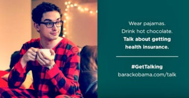 "Who can forget the infamous ""Pajama Boy"" ad of 2013, designed to convince young people to enroll in Obamacare? (Photo: Organizing for Action)"