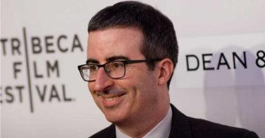 In a sketch on his Sunday show, comedian John Oliver said there is significantly greater racial homogeneity in public schools than there was 20 years ago. (Photo: Efren Landaos /Press Line/Splash/Newscom)