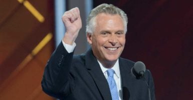 Virginia Gov. Terry McAuliffe, a Democrat, has granted voting rights to as many as 60,000 felons. (Photo: Richard Ellis /Zuma Press/Newscom)
