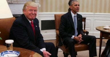 President-elect Donald Trump should use the first 100 days of his administration to repeal every illegal executive action the Obama administration has issued. (Photo: Aude Guerrucci/Polaris/Newscom)