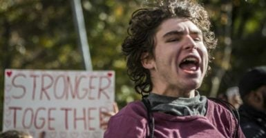 Cry-ins and primal screams were organized on college campuses following the presidential election. (Photo: Michael Nigro/Zuma Press/Newscom)
