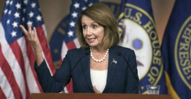 House Minority Leader Nancy Pelosi, D-Calif., has been forced to delay her party's leadership elections. (Photo: Kevin Dietsch/UPI/Newscom)