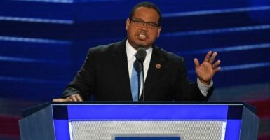 Rep. Keith Ellison, D-Minn., is the leading contender to be the chairman of the Democratic National Committee. (Photo: Pat Benic/UPI/Newscom)