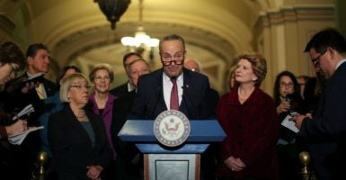 Then-Sens. Barack Obama, Joe Biden, and Hillary Clinton were among the 26 Democrats who approved the bill. Supporters also included Sen. Chuck Schumer, who is set to take over leadership of the Senate for Democrats in 2016.(Photo: Carlos Barria/Reuters/Newscom)